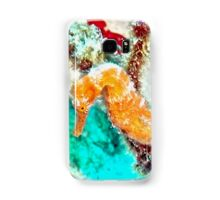 Orange Caribbean Sea Horse Samsung Galaxy Case/Skin