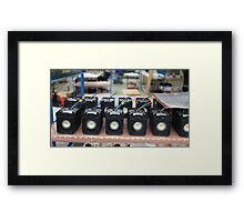 manufacturing of electronic equipment Framed Print