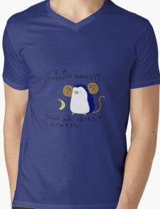 Penguin Monkey Mens V-Neck T-Shirt