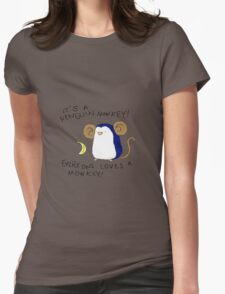 Penguin Monkey Womens Fitted T-Shirt