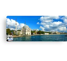 Bosphorus and Dolmabahce Mosque, Istanbul, Turkey Canvas Print