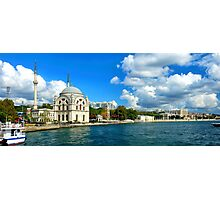 Bosphorus and Dolmabahce Mosque, Istanbul, Turkey Photographic Print
