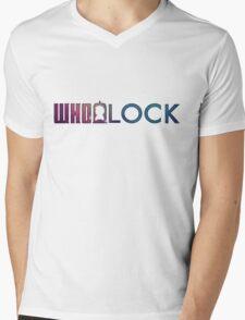 WHOLOCK Mens V-Neck T-Shirt