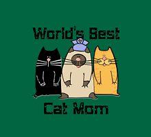 Worlds best cat mom funny nerd geek geeky T-Shirt