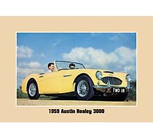 Classic British car convertible Austin Healey 3000 Photographic Print