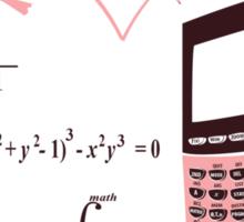 I <3 Math Sticker