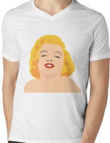 marylin monroe in color Mens V-Neck T-Shirt