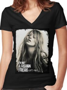 Fashion Freak Womens Women's Fitted V-Neck T-Shirt