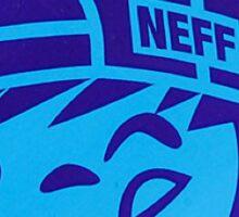 blue neff Sticker