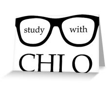 Study with XO Greeting Card