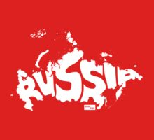 Russia Type Map (White) by seanings