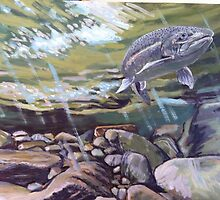 Steelhead Holding High by Robert Sullivan