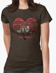 Heart Gun Womens Fitted T-Shirt