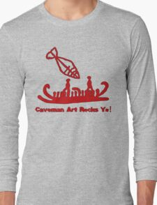 Caveman Fishing Long Sleeve T-Shirt