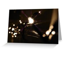 Christmas lights at night Greeting Card