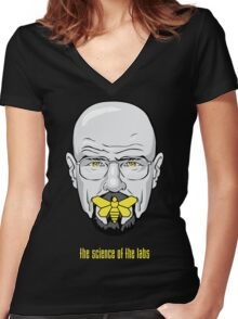 The Silence of the Labs Women's Fitted V-Neck T-Shirt