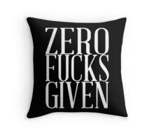 Zero F Given Throw Pillow