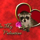 Be My Valentine Raccoon by jkartlife