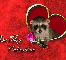 Be My Valentine Raccoon by jkartlife