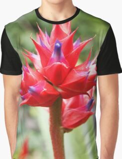 Red Tropical Plant Graphic T-Shirt