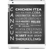 Cancun Famous Landmarks iPad Case/Skin