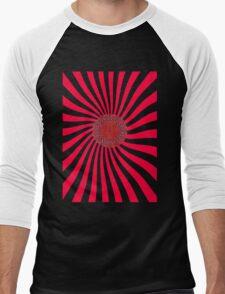 Red Sun Mandala Men's Baseball ¾ T-Shirt