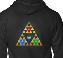Legend of Zelda Triforce Navi Ocarina of Time Zipped Hoodie