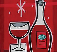 RED BAR -Panel 2 by G. Allen Black