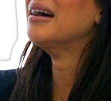 kim k crying poor girl Sticker