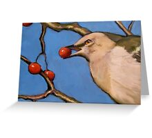 Mockingbird with Berry in its Beak, Original Art, Wildlife Greeting Card
