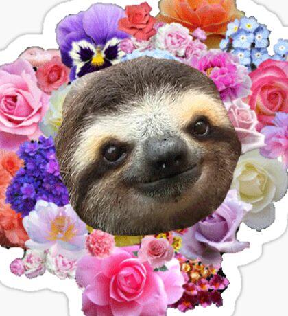 flowery sloth lmao Sticker