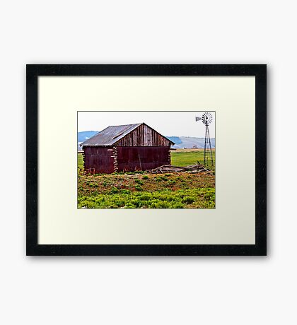 Old Colorado Barn and Windmill Framed Print