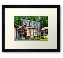 Colorado Ghost Town Cabin with the Pink Door Framed Print