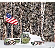 Patriotic Winter Photographic Print