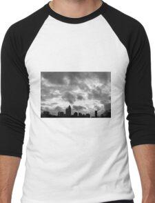 Charlotte Skyline - B&W Men's Baseball ¾ T-Shirt