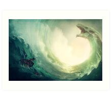 Sea is a Dragon Art Print
