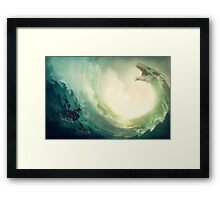 Sea is a Dragon Framed Print