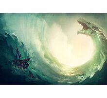 Sea is a Dragon Photographic Print
