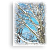 Snow Covered Holiday Metal Print