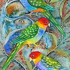 Rainbow parrots for iphone  by Karin Zeller