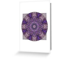 Crown Chakra Mandala 1a Greeting Card
