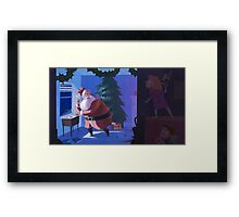 STICK EM UP, SANTA Framed Print