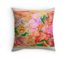 outside voice Throw Pillow