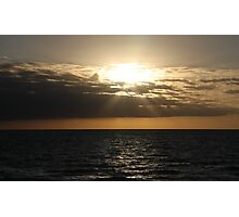 Subdued sunset at Henley Beach, South Australia Photographic Print