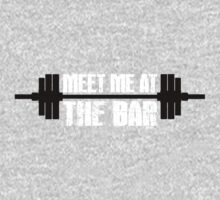 Meet Me At The Bar Workout Tee. Crossfit Tee. Exercise Tee. Weightlifting Tee. Running Tee. Fitness by Max Effort
