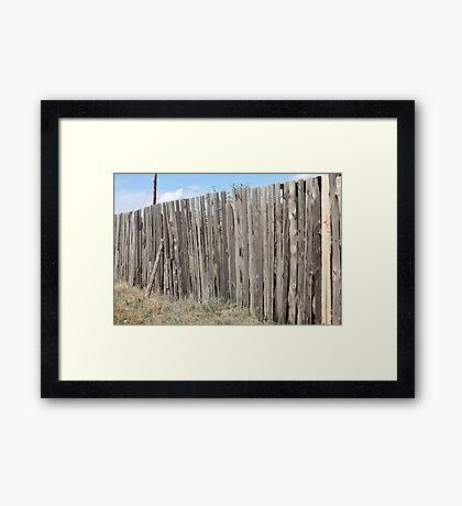 Old wooden fence Framed Print