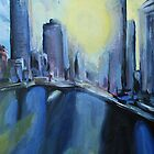 Brisbane City painting by Mark Malinowski