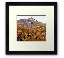 Red Rock Peak Framed Print