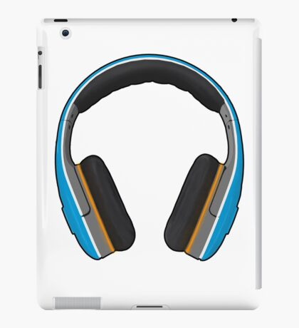 Blue Headphones iPad Case/Skin