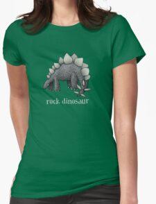 Rock Dinosaur #3 Womens Fitted T-Shirt